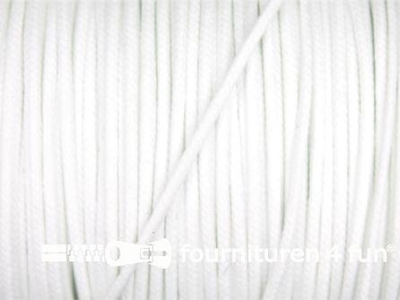 Katoen wax-look koord 1,5mm wit