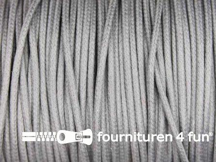 Katoen wax-look koord 1,5mm licht grijs