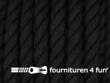 Katoen polyester koord 7,5mm zwart