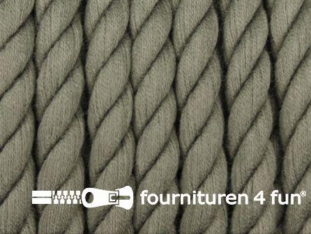 Katoen polyester koord 7,5mm donker grijs