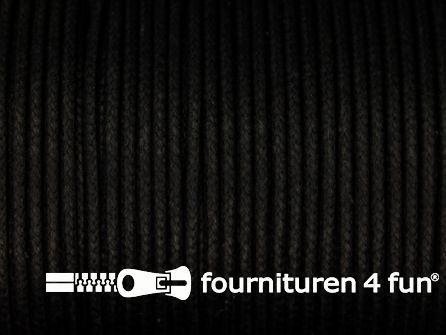 Katoen wax-look koord 1,5mm zwart