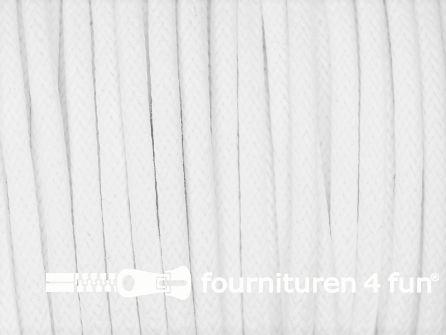 Katoen wax-look koord 3mm wit