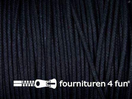 Katoen wax-look koord 1,5mm donker blauw