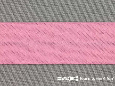 Rol 25 meter katoenen biasband 30mm barbie roze