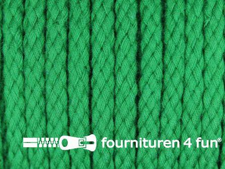 Katoenen koord grof 5mm gras groen