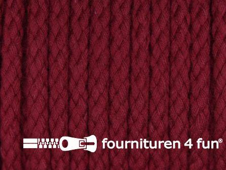 Katoenen koord grof 5mm bordeaux rood