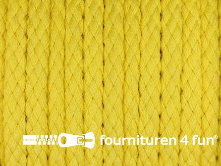 Katoenen koord grof 5mm geel