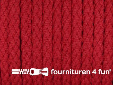 Katoenen koord grof 5mm rood