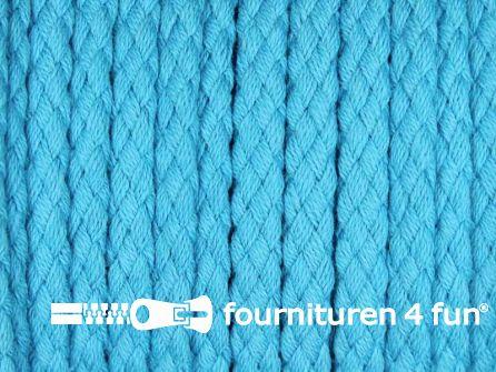 Katoenen koord grof 5mm aqua blauw