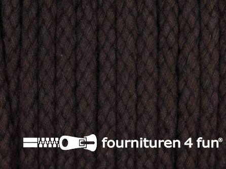 Katoenen koord grof 5mm donker bruin