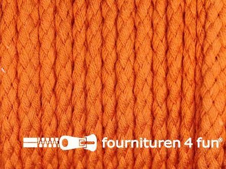 Katoenen koord grof 5mm oranje