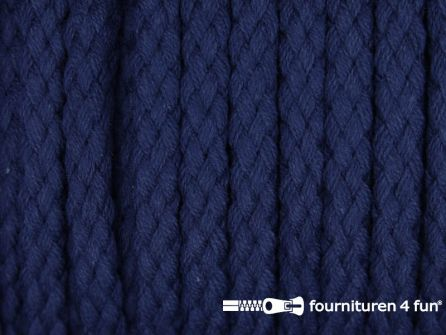 Katoenen koord grof 5mm marine blauw