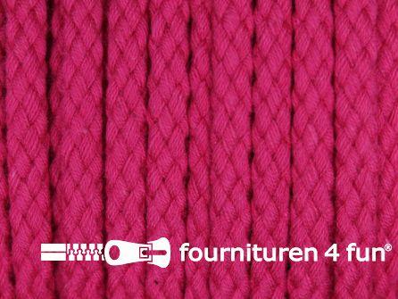 Katoenen koord grof 5mm fuchsia roze