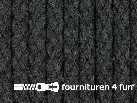 Katoenen koord grof 6mm antraciet grijs
