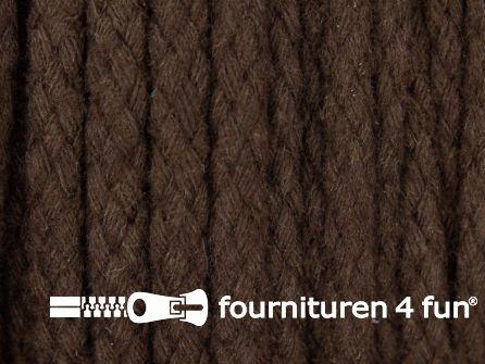 Katoenen koord grof 6mm donker bruin
