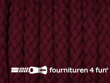 Katoenen koord grof 8mm bordeaux rood