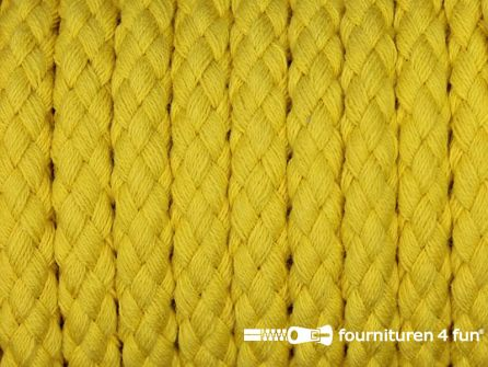Katoenen koord grof 8mm geel