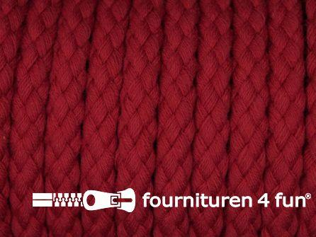 Katoenen koord grof 8mm rood