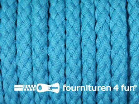 Katoenen koord grof 8mm aqua blauw