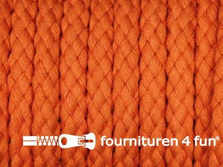 Katoenen koord grof 8mm oranje