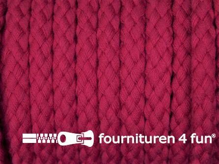 Katoenen koord grof 8mm fuchsia roze
