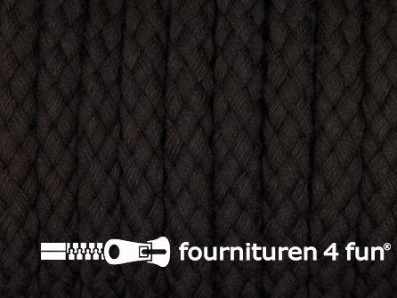 Katoenen koord grof 8mm donker bruin