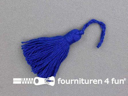 Kwastje 50mm konings blauw