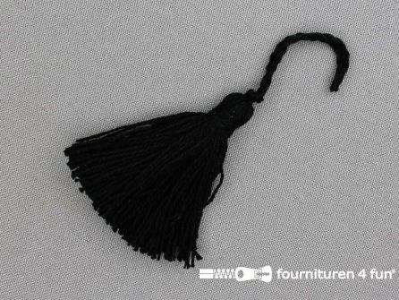 Kwastje 50mm zwart