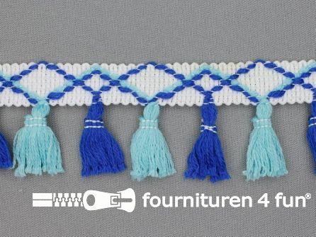 Klosjes franje 45mm aqua - blauw