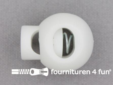 Koord stopper 25mm bal wit