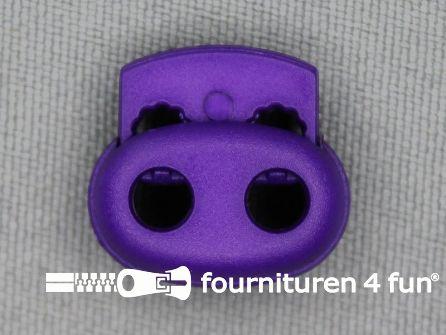 Koord stopper 18mm dubbel paars