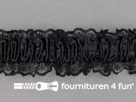Elastisch kant 40mm kousenband zwart
