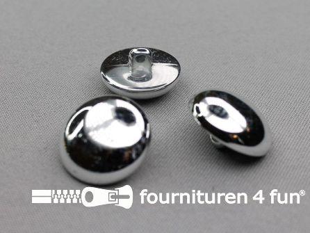 Zilveren bolvormige knoop 25mm