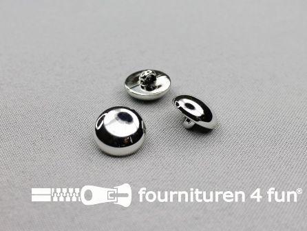 Zilveren bolvormige knoop 15mm