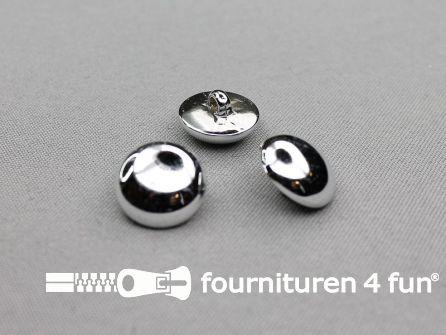 Zilveren bolvormige knoop 18mm