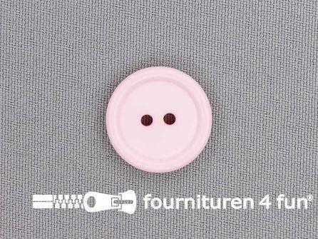 Kunststof knoop 20mm roze