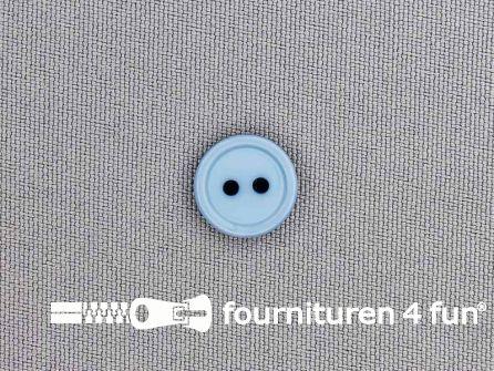 Kunststof knoop 13mm licht jeans blauw