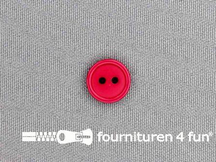 Kunststof knoop 13mm fuchsia