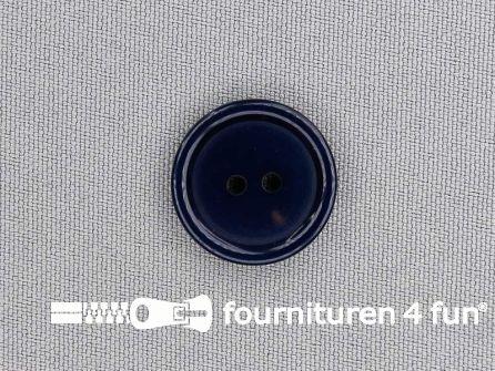 Kunststof knoop 20mm marine blauw