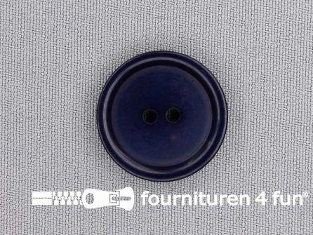 Kunststof knoop 25mm marine blauw