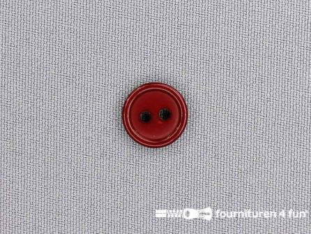 Kunststof knoop 13mm bordeaux
