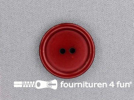 Kunststof knoop 25mm bordeaux
