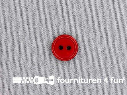 Kunststof knoop 13mm kersen rood