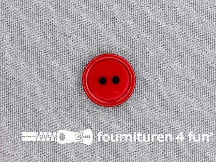 Kunststof knoop 15mm kersen rood