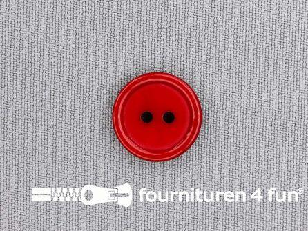 Kunststof knoop 18mm kersen rood