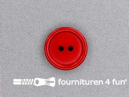 Kunststof knoop 20mm kersen rood