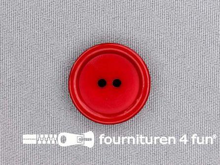 Kunststof knoop 23mm kersen rood