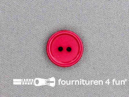 Kunststof knoop 18mm fuchsia