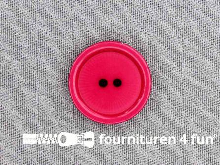 Kunststof knoop 23mm fuchsia