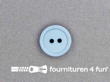 Kunststof knoop 18mm licht jeans blauw